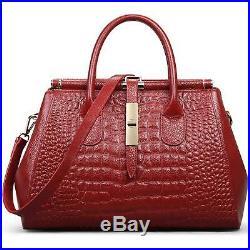 Genuine Vintage Leather Satchel Messenger Hand Bag Laptop Tote Bag for women