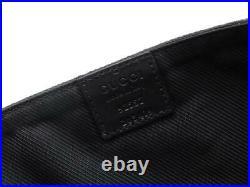 Gucci GG Black Canvas / Leather Tech / Laptop Case 92557 203419