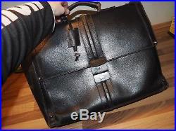 Gucci LARGE BLACK LEATHER BRIEFCASE laptop mens womens bag 100% AUTHENTIC