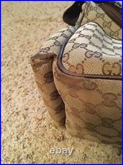 Gucci Monogram Diaper Baby Messenger Laptop Bag Purse, 123326