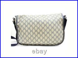 Gucci Navy Supreme GG Messenger 859256