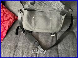 Gucci messenger gray bag big enough for laptop as a wok bag unisex