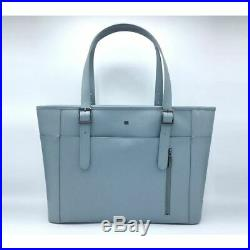Gunas New York Womens Miley Premium Vegan Laptop Work Bag Blue Gray