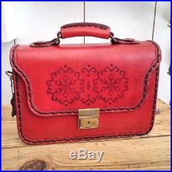 Handmade Leather Briefcase Best Laptop Messenger Bag Satchel for Men Women Gift