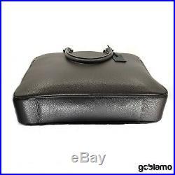 Handmade brand new shoulder bag gray genuine leather briefcase silver zipper