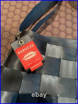 Harveys Seatbelt Messenger Bag Large Purse Dusty Blue Tote Laptop Crossbody
