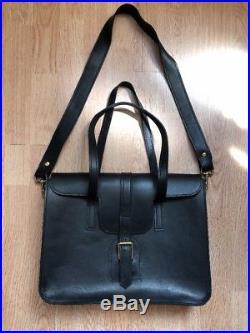 Hilary Johnson Designer Bag Handbag Black Leather Laptop bag women/Unisex