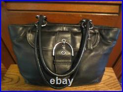 Huge Coach 5770 Black Soho Carryall Tote Laptop Business Travel Work Diaper Bag