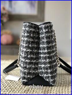 KATE SPADE natalia Chain tote tweed satchel shoulder bag purse laptop Black