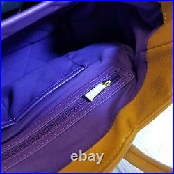 KNOMO London Valencia Handbag Laptop Briefcase Mango Leather Women's Career NEW