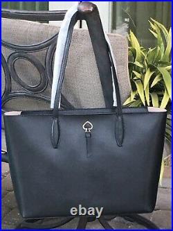 Kate Spade Adel Large Tote Shoulder Bag Black Leather Laptop Carryall $329