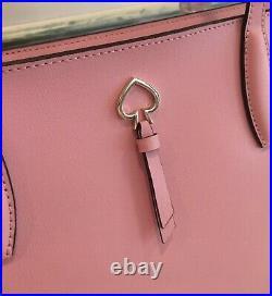 Kate Spade Adel Large Tote Shoulder Bag Carnation Pink Leather Laptop Satchel