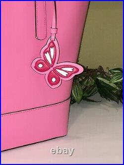Kate Spade Adley Large Tote Shoulder Bag Pink Starburst Leather Laptop $329
