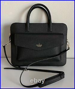 Kate Spade Black Saffiano Leather 13in Laptop Bag Adjustable Strap, MSRP $298