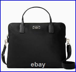 Kate Spade Blake Avenue Daveney Laptop Computer Briefcase Crossbody Bag. Black
