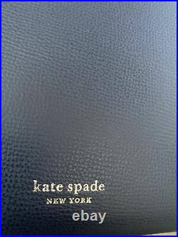 Kate Spade Blazer Blue Leather Large Molly Work Tote Laptop Bag Purse A545 New
