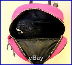 Kate Spade Bradley Wilson Road Backpack LAPTOP Nylon Pink Radish Book Bag NWT