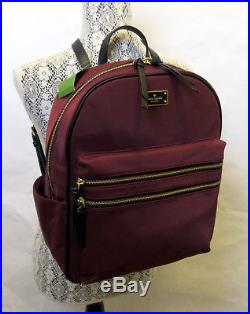 57b30cb293d3f Kate Spade Bradley Wilson Road Backpack LAPTOP Nylon Sumac Red Book Bag Tote  NWT
