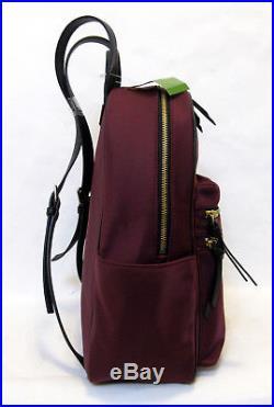 Kate Spade Bradley Wilson Road Backpack LAPTOP Nylon Sumac Red Book Bag Tote NWT
