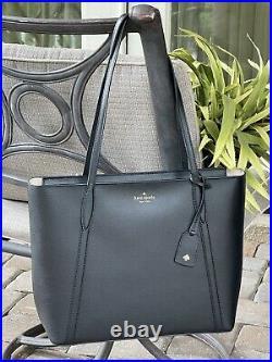 Kate Spade Cara Large Tote Shoulder Bag Laptop Carryall Black Leather Gold