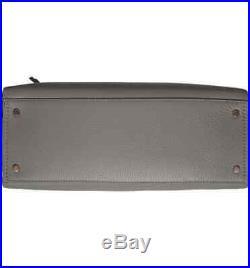 Kate Spade Jackson Street Kiernan Leather Laptop Tote Shoulder Bag Willow Grey
