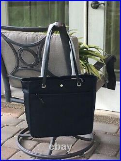 Kate Spade Jae Large Tote Shoulder Bag Carryall Laptop Zipper Black Nylon $299