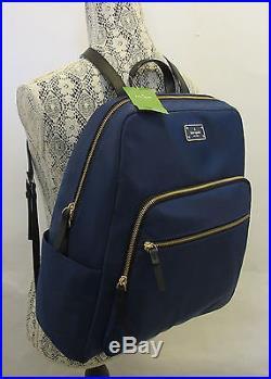 Kate Spade Large Hilo Blake Avenue Laptop Backpack Blue Book Bag Travel Bag NWT