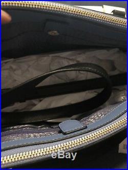 Kate Spade Leighann Laurel Way Large Laptop Bag Handbag Stacy Wallet Set Blue
