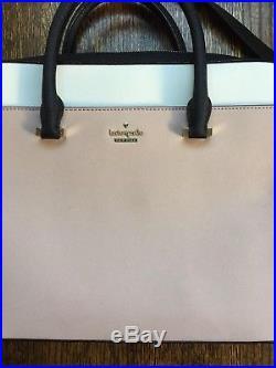 Kate Spade New York Women's Saffiano Laptop Bag Black Rose