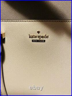 Kate Spade Saffiano Leather Laptop Bag Case Gray Colorblock EUC 13inch