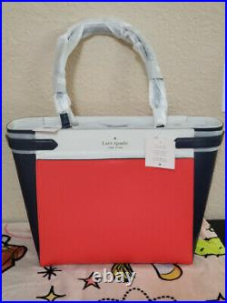 Kate Spade Staci 15 Inch Laptop Tote Triple Compartment Leather Colorblock bag