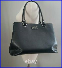 Kate Spade Wellesley Fallon Large Black Leather Tote Purse Laptop Bag