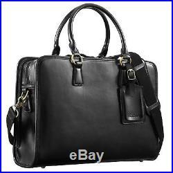 Kattee Suitcase Vintage Leather for Woman Bag Shoulder Messenger for Laptops