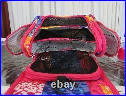 Kipling Lizzie Patchwork Travel Laptop Tote Bag Weekender Toiletry BONUS! NWT