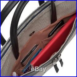 Knomo Hanover Mayfair 14 Briefcase Womens slim laptop bag Canvas New