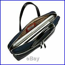 Knomo Hanover Mayfair 14 laptop Messenger Bag Briefcase Womens Blue slim New
