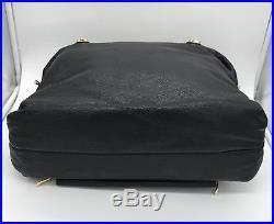 Knomo London Women's Black Pebbled Leather Lola 15 Laptop Tote Work Bag $279