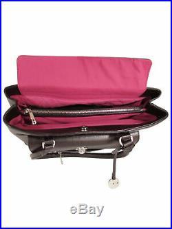 Knomo London Womens Kampala 13 Laptop Leather Shoulder Bag