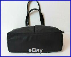 Knomo Womens Laptop Shoulder Bag Nylon Business Tote Black Gold-tone Hardware