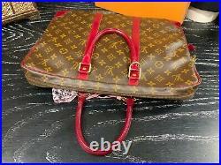 LOUIS VUITTON 15 Authentic Monogram Leather Canvas Custom Briefcase Laptop Bag