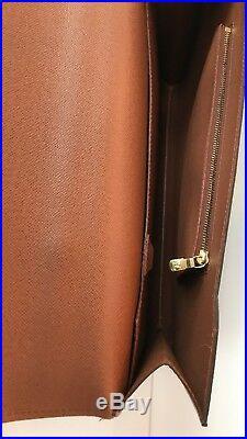 LOUIS VUITTON Briefcase Monogram Leather Laptop Bag