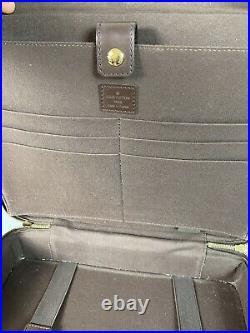 LOUIS VUITTON France Authentic 13.5 Damier Ebene Laptop Messenger Shoulder Bag