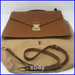 LOUIS VUITTON Porte Document Epi Vintage Briefcase Laptop Bag