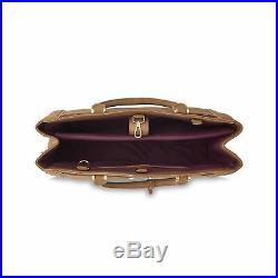 LaBante London'Dawson' Vegan Leather Carryall Laptop Bag for Women (Brown)