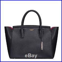 LaBante London'Grant' Vegan Leather Carryall Laptop Bag for Women Black