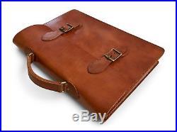 Laptop Attache Case Mens Messenger Bag Leather Lawyer Womens Briefcase / Wallet