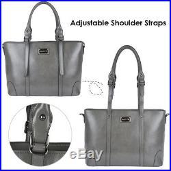 Laptop Bag Tote Women Shoulder Handbag Business Work Briefcase Travel Gray