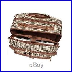 Laptop Bags For Women 17 Inch Rolling Computer Business Luggage Travel Plaid