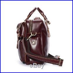 Laptop Messenger Bag Leather Lawyer Womens Briefcase Attache Case Mens / Wallet