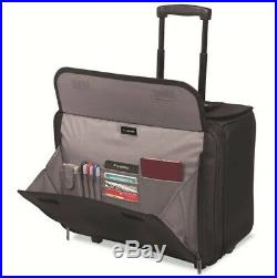 Laptop Rolling Suitcase Airport Bag Professional Men Women Commuter Zip Document